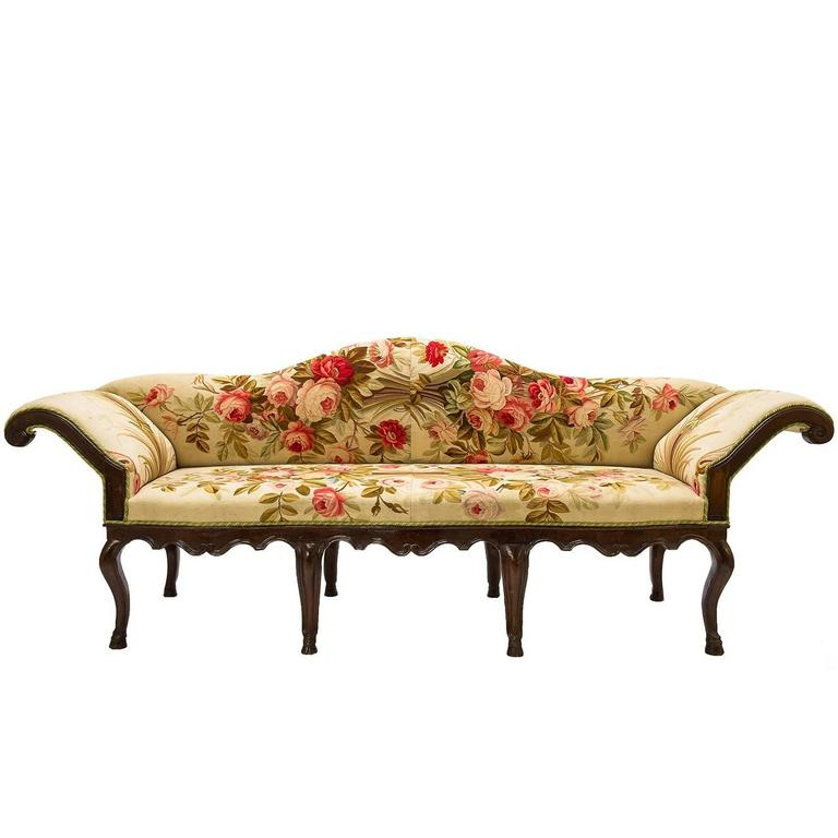 Antique Tapestry Sofa: Antique Italian Sofa, Covered With Authentic Old Aubusson