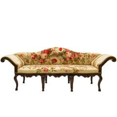 Antique  Sofa Louis XV, Covered with Authentic Old Aubusson Tapestry