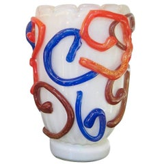 Vintage Modernist Murano Glass Vase by Costantini