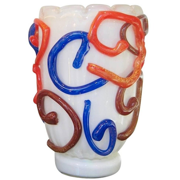 Vintage Modernist Murano Glass Vase by Costantini