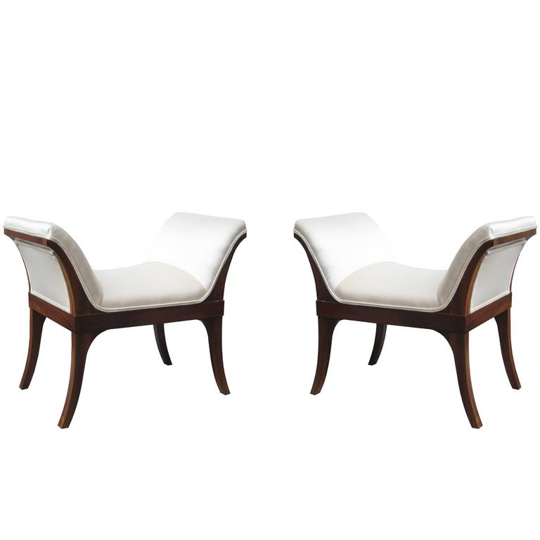 Fine Pair of Neoclassical Benches