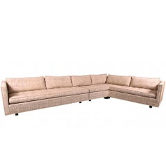 Harvey Probber Sectional in Original Upholstery with Custom Rosewood Table