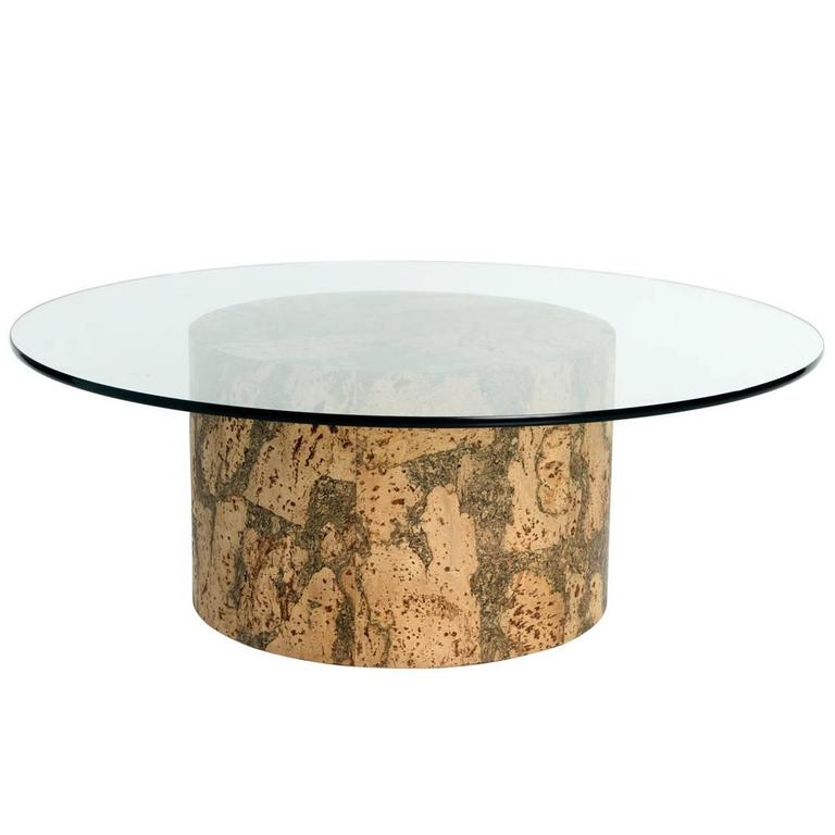 Cork Coffee Table In The Manner Of Paul Frankl At 1stdibs
