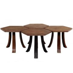 Suite of Four Hexagonal Tables by Harvey Probber
