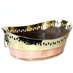 Dutch Brass and Copper Bread Basket