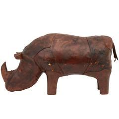 Bulldog Foot Stool By Abercrombie Leather At 1stdibs