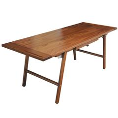 Lendon Desk in Oiled Walnut with Breadboard Ends