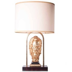 1960s Brass Table Lamp in Style of Maison Jansen