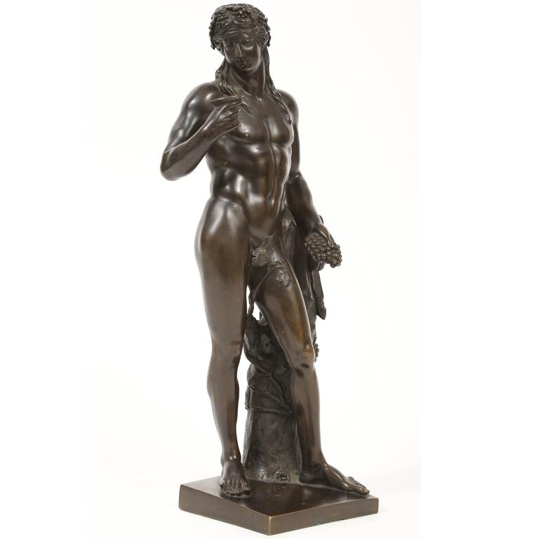 18th c. Bronze Statuette of Bacchus, After Michel Anguier and Louis Garnier