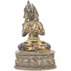 Gilt Bronze Figure of the Buddha Amitayus, Tibet, 16th-17th Century