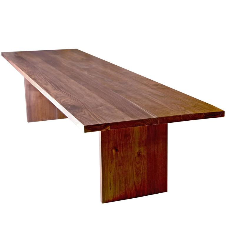 shimna hardwood black walnut communal farmhouse table 1 - Farmhouse Table For Sale