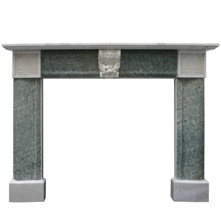Antique 19th Century Regency Marble Fire Surround For Sale