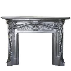 Spectacular Reclaimed Antique Late Victorian Cast Iron Rococo Chimneypiece