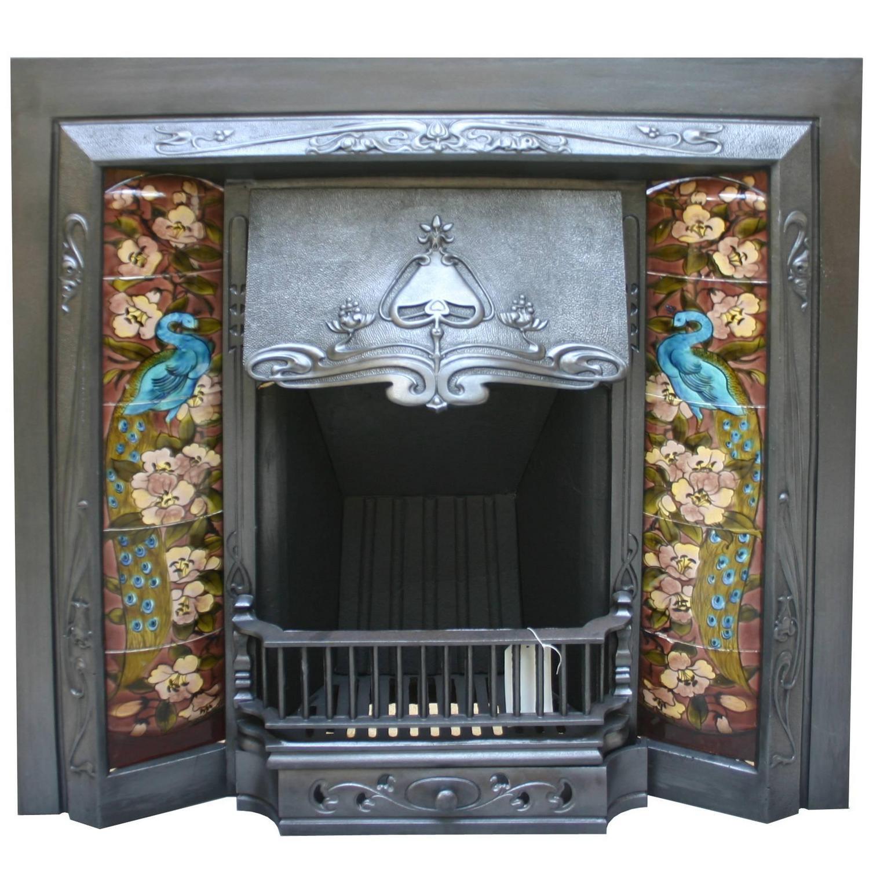 Antique Edwardian Art Nouveau Cast Iron Fire Insert At 1stdibs