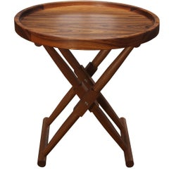 Matthiessen Round Tray Table in Oiled Teak