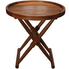 Matthiessen Round Tray Side Table in Oiled Teak