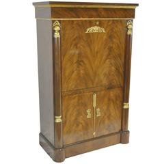 Baker Signature Empire Style Drop Front Desk / Secretary with Cabinet