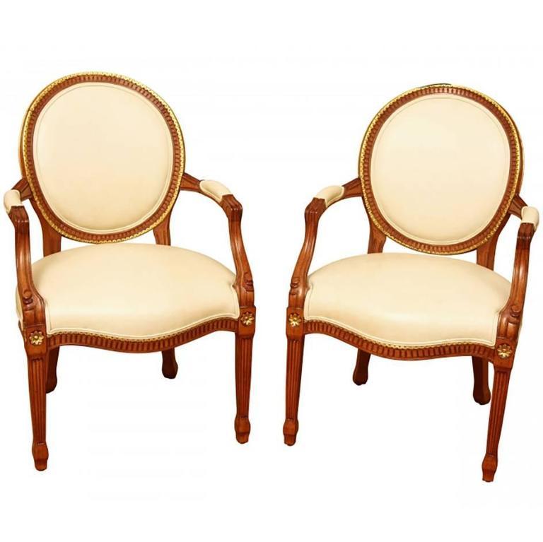 Pair of Quality Louis XVI Style Fauteuils