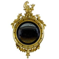 Giltwood Girandole Mirror with Seahorse and Dolphins, Probably Philadelphia