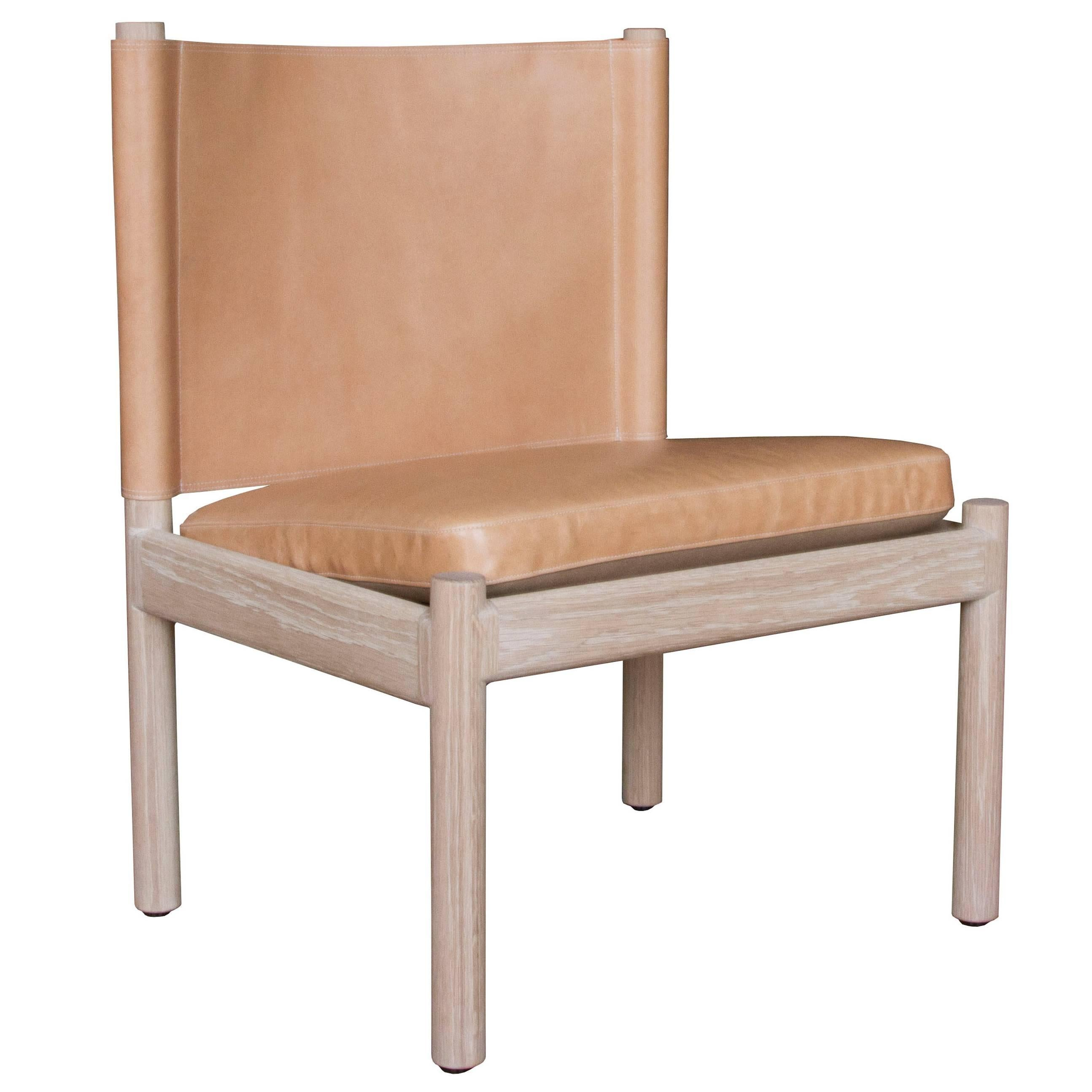 Reed Lounge Chair in Oak and Leather - handcrafted by Richard Wrightman Design
