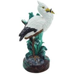 19th Century English Majolica Stork Vase, Joseph Holdcroft
