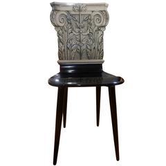 """Piero Fornasetti, Chair Model """"Capitello Corinzio"""""""