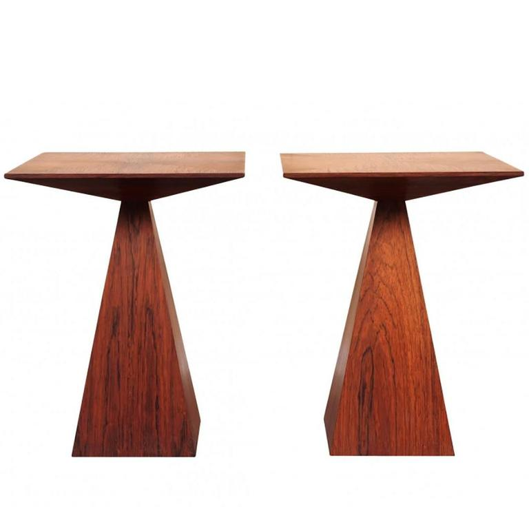 Wenge End Table Pair by Harvey Probber
