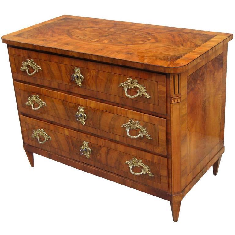 Fine Rococo Three-Drawer Chest For Sale