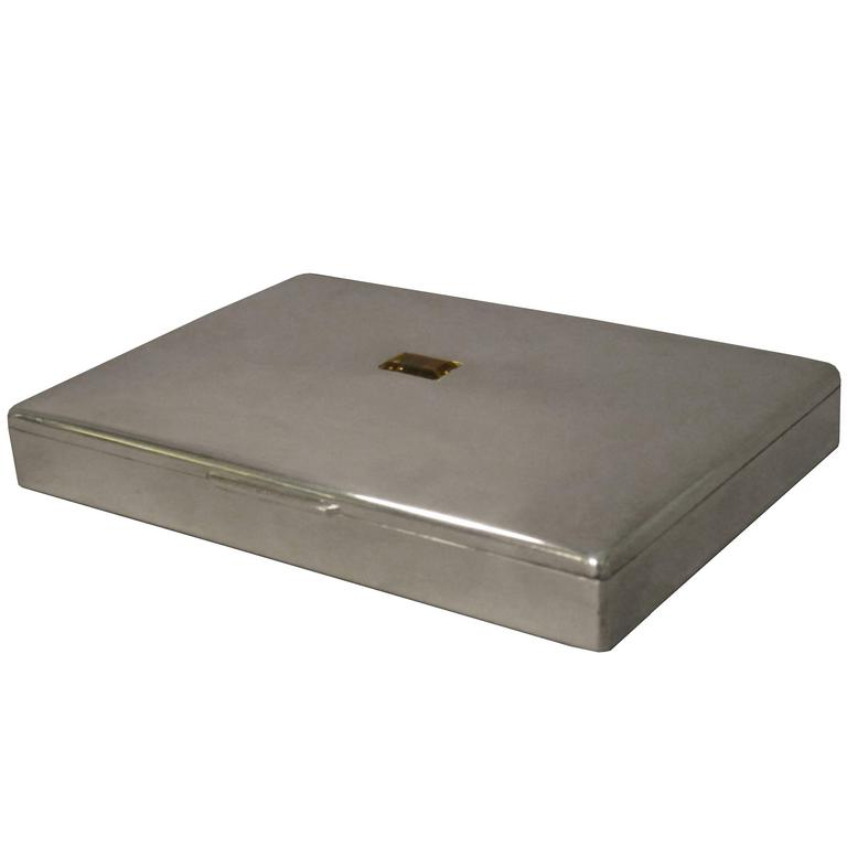 Fine Christian Dior Sterling Silver Decorative Box