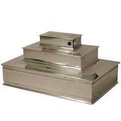 Fine Tiffany & Co. Three-Tier Sterling Silver Box