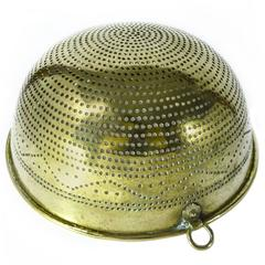 Swedish Brass Colander, circa 1820