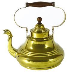 Dutch Brass Serpent Spout Kettle, circa 1725