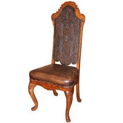 18th Century Portuguese Oak Chair