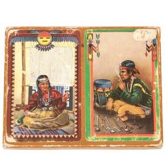 Set of Vintage Native American Playing Cards, circa 1920