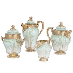 Silver Gilt Mounted Porcelain Tea and Coffee Service