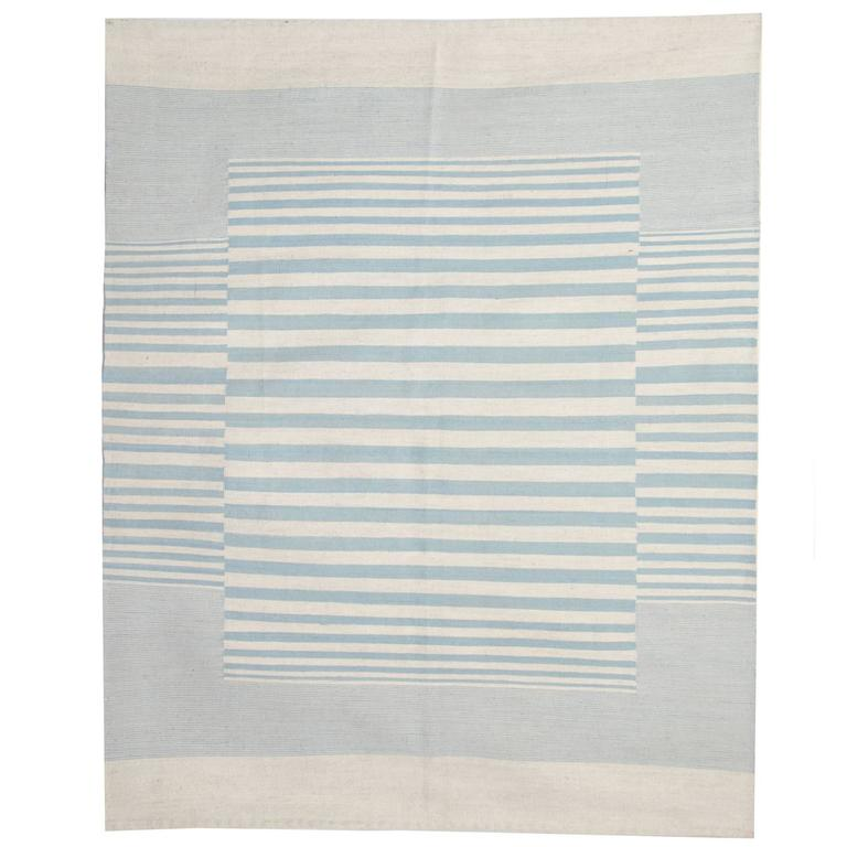 Modern Striped Kilim Rugs, Persian Style Rugs, Kilims from Afghanistan For Sale
