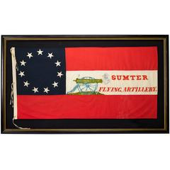 Fort Sumter Commemorative 11-Star Flag Hand-Painted & Sewn, circa 1980