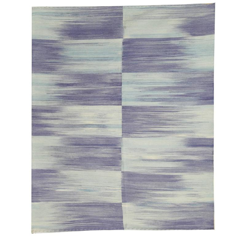 Purple Kilim rugs, Carpet from Afghanistan, Modern Striped Kilim Rugs, For Sale
