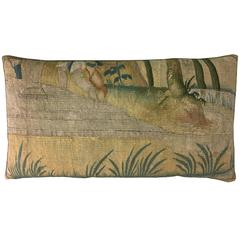 Brussels Baroque Tapestry Pillow, circa 17th Century 1648p