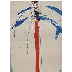 Emerson Woelffer Abstract Painting, 1975