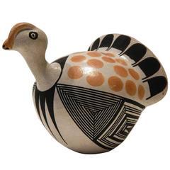 Acoma Pueblo Potter Jessie Garcia Turkey Figurine