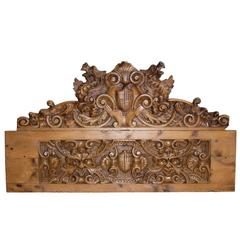Large 19th Century French Pine Carving