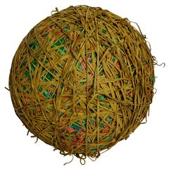 300 Pound Rubber Band Ball by a NY Rubber Band Sculpture Artist