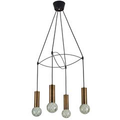Italian Four Globe Suspension Light