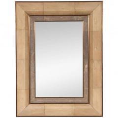 R & Y Augousti Shagreen Sharkskin Mirror