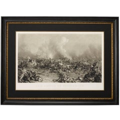 """""""Battle of Gettysburg"""" by Peter F. Rothermel, Antique Engraving, 1872"""