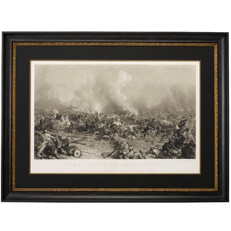 """""""Battle of Gettysburg"""" by Peter F. Rothermel, Antique Engraving, 1872 For Sale"""