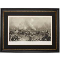 Battle of Gettysburg Engraving, 1872
