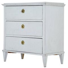 Small 19th Century Swedish Painted Commode Chest of Drawers