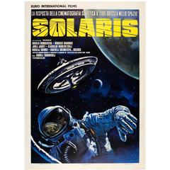 Rare Original Soviet Sci-Fi Movie Poster: Solaris by Tarkovsky, Italian Release